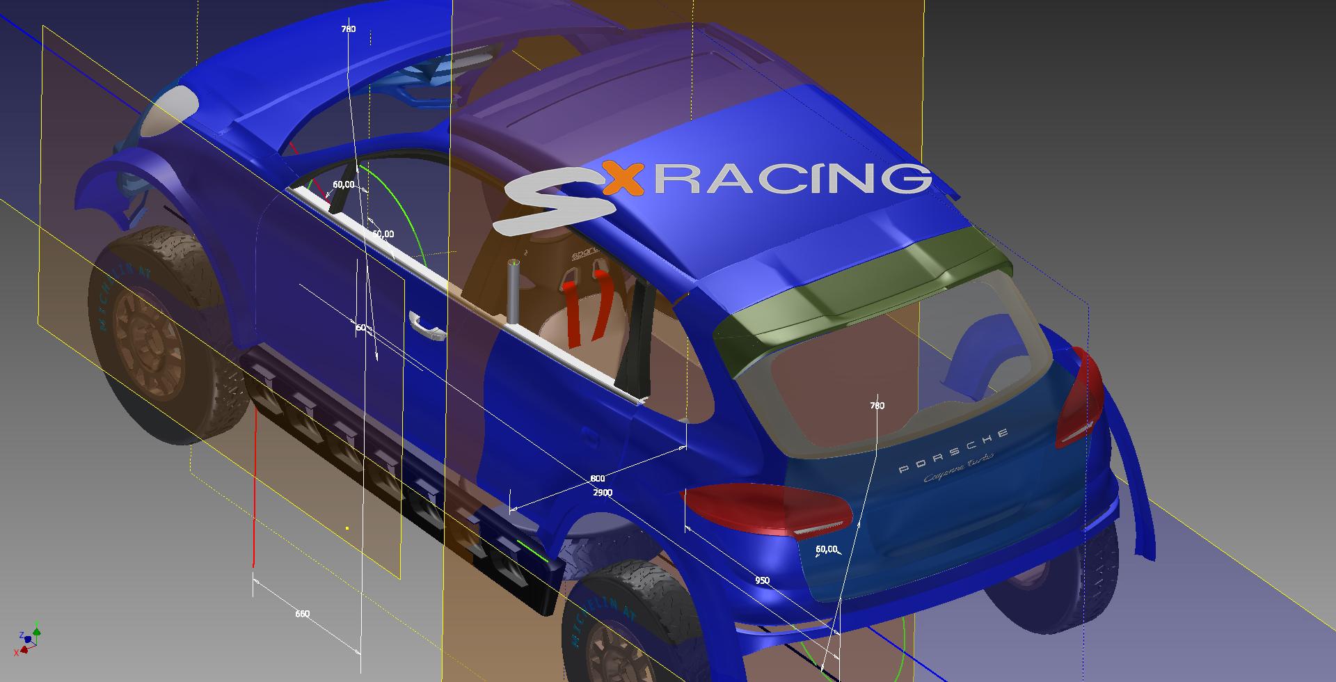mini Porsche pierwszy szkic koncepcji karoserii